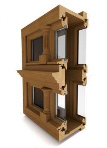 drewniane okno skrzynkowe